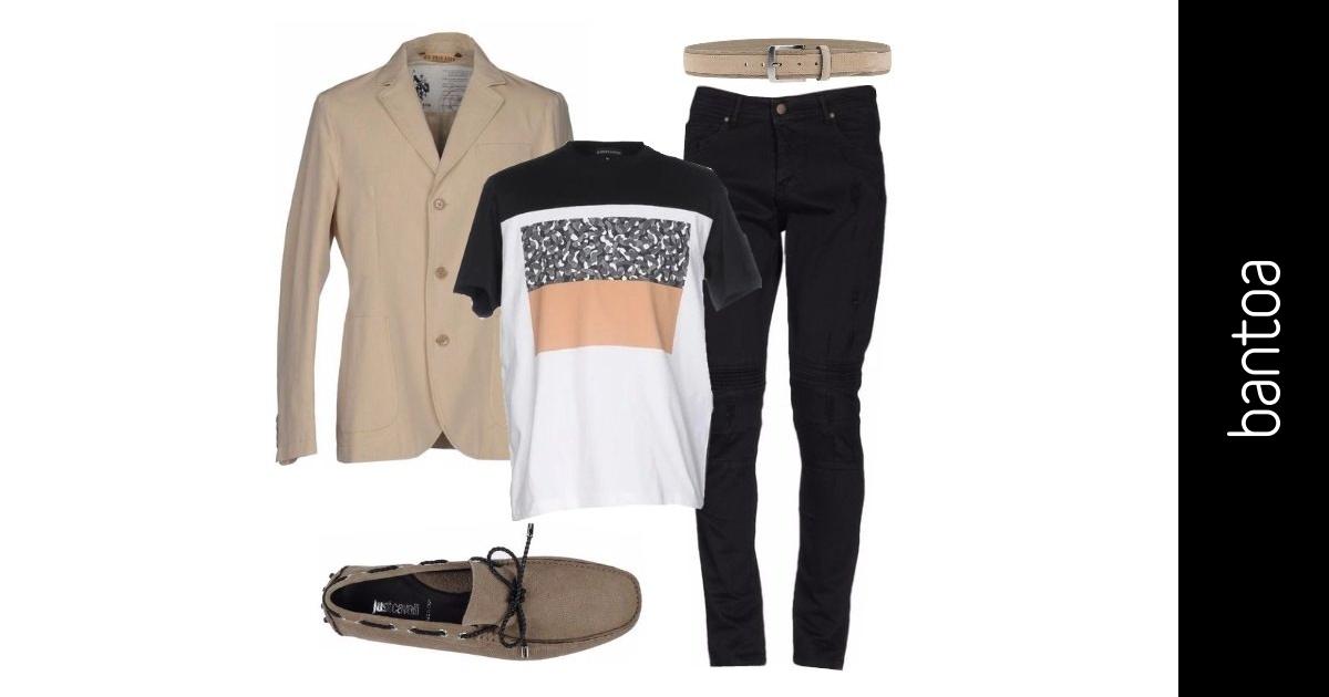 Giacca E T Shirt Outfit Uomo Casual Per Ufficio Bantoa