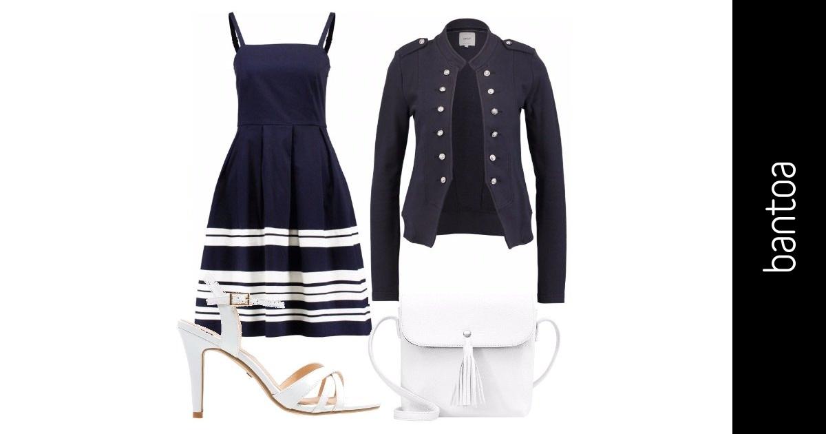 Blu e bianco outfit donna chic per ufficio bantoa for Ufficio bianco e blu