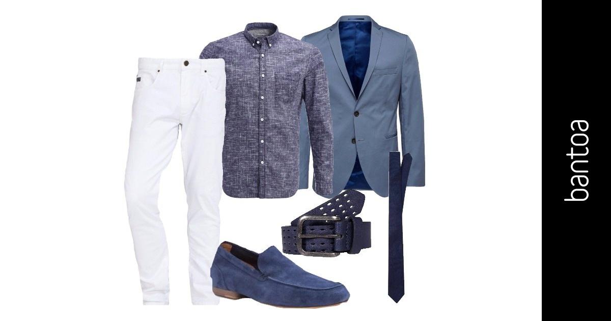Festa in bianco e blu outfit uomo business elegance per for Ufficio bianco e blu