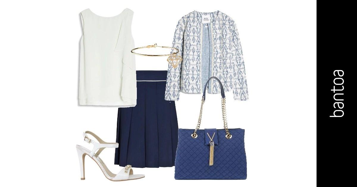 Bon ton blu e bianco outfit donna bon ton per ufficio e for Ufficio bianco e blu