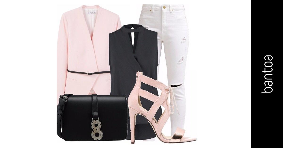 Rosa blu e bianco scelta top outfit donna trendy per for Ufficio bianco e blu