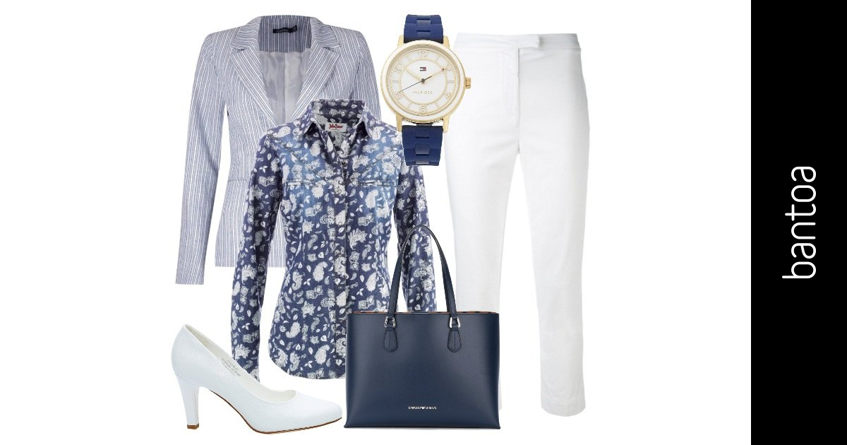 Bianco e blu in ufficio outfit donna chic per ufficio for Ufficio bianco e blu